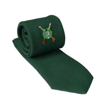 Krawatte mit Schützenemblem, Fresco, grün