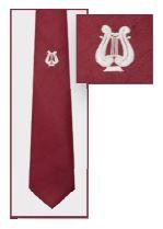 Krawatte mit Lyra