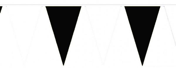 Wimpelketten, Baumwoll-Fahnentuch, schwarz-weiß