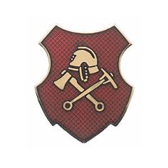 """Schützenabzeichen """"Feuerwehr"""" Wappenform"""