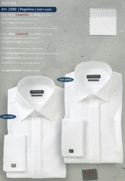 Jupiter Smoking-Hemd, Kent-Kragen, modern fit, weiß