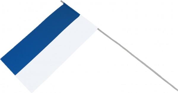 Papierfähnchen zweifarbig in blau-weiß