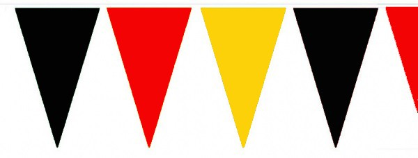 Wimpelketten, Polyester-Fahnentuch, schwarz-rot-gelb