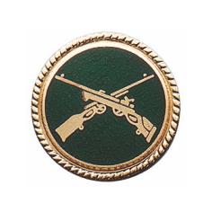 Schützenabzeichen mit Schmuckrand, 20 mm Ø
