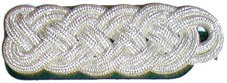 Schulterstück aus 2 Teilen 6 mm starker Rundschnur, 5-bogig
