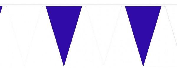 Wimpelketten, Baumwoll-Fahnentuch, blau-weiß