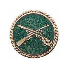 Schützenabzeichen mit Schmuckrand, 16 mm Ø