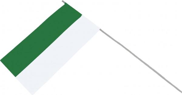 Papierfähnchen zweifarbig in grün-weiß