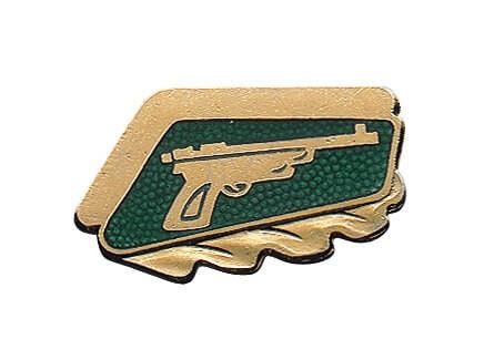 Schützenabzeichen mit Gravurfeld