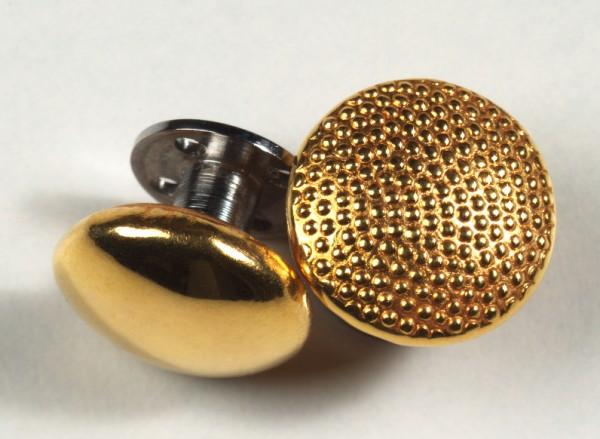 Schraubknopf, halbrund, 16 mm