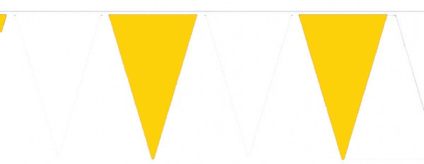 Wimpelketten, Polyester-Fahnentuch, gelb-weiß
