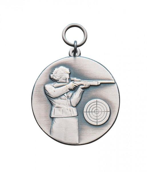 Medaille Schützin in 2 Größen