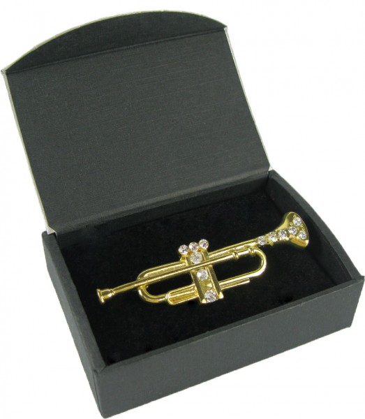 Anstecknadel, Trompete, groß