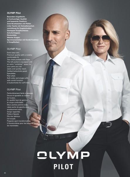 OLYMP, Pilotenhemd, comfort fit, weiß