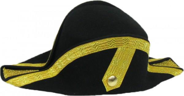 Zweispitz mit Tresse gold oder silber
