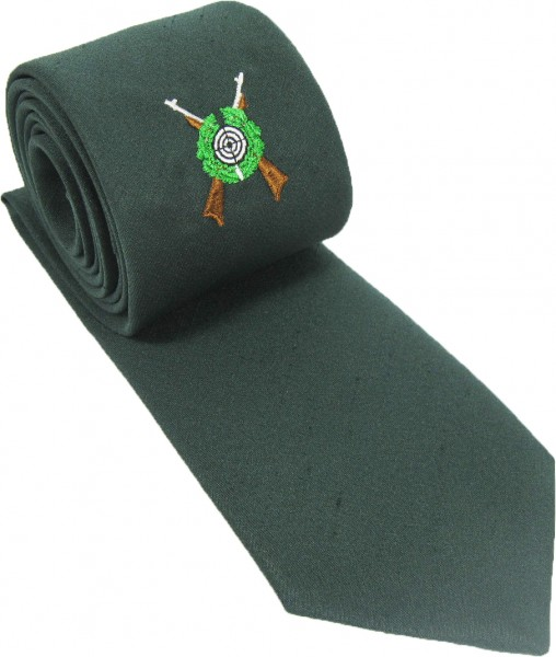 Krawatte mit Schützenemblem, Shantung, verschiedene Farben