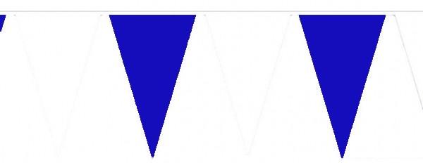 Wimpelketten, Polyester-Fahnentuch, blau-weiß