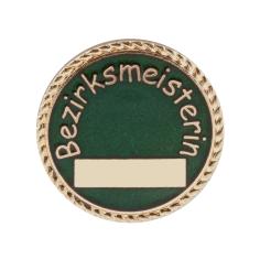 """Auflage/Abzeichen """"Bezirksmeisterin"""""""