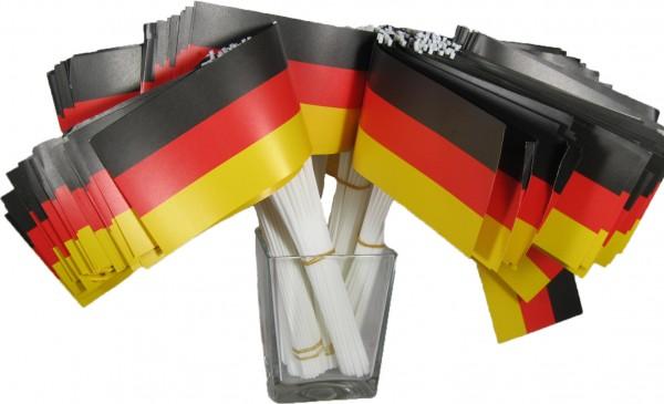 Papierfähnchen Deutschland