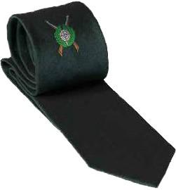 Krawatte mit Schützenemblem, Eisfond, dunkelgrün