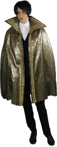 Prinzencape Brokat schwarz-gold